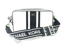 Michael Kors Small Logo Tape Leather Camera Crossbody Bag