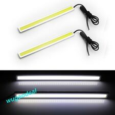 1Pair 14Cm Led Car Styling Daytime Running Day Light Cob Auto Drl Fog Lamp New