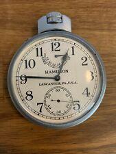 Original HAMILTON Military U.S.Navy,Model 22 Chronometer Watch.Works Perfect.
