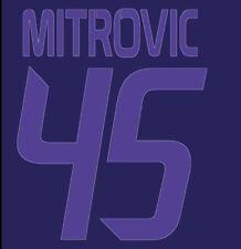 Mitrovic #45 Anderlecht 2013-2014 Away Football Nameset for shirt