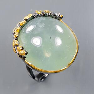 Handmade SET Prehnite Ring Silver 925 Sterling  Size 7 /R177878