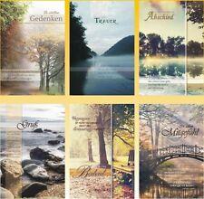 50 Trauerkarten Trauerkarte Trauer Beileidskarten Kondolenzkarten 816660 HI