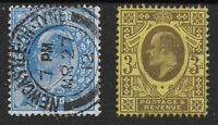 SG284/5. Harrison 2&1/2d.& 3d. Perf.15x14 Very Fine Used-Good Colours. Ref:12149