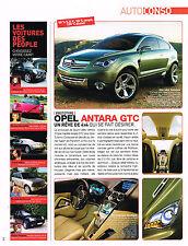PUBLICITE ADVERTISING 104  2005  OPEL  ANTARA GTC 4x4