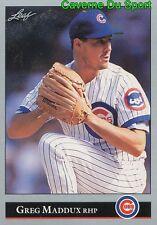 294 greg maddux chicago cubs baseball card leaf 1992
