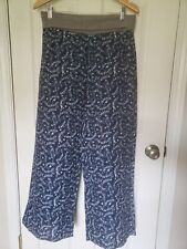 SUNDANCE Womens Pants 100% Linen WIde leg foldable soft Waist Size M
