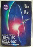 Generations JM Dillard Two Captains One Destiny Star Trek Space Softback Book