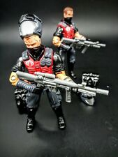 GI Joe Red Laser Black Major Cobra Viper Black Gray & Red Uniform Lot of Two