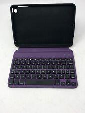 "ZaggKeys Apple iPad Mini 7"" Purple Folio Bluetooth Keyboard & Case Stand zagg"