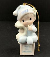 "Precious Moments Enesco ""Baby's First Christmas"" 1998 Ornament 455652, NO BOX"
