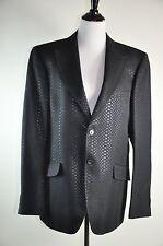 Richmond X Cotton Jacquard Men's Blazer Sport Suit Dinner Jacket 56 IT MSRP $899