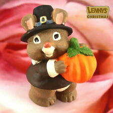 Hallmark Merry Miniature, 1995 Mouse with Pumpkin, Looks New