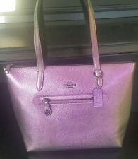 COACH Taylor Tote in Hologram Iridescent Leather Purse Style 57329 New