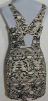 Silence + Noise Women's Python Print Lined X Back Straps Mini Dress Size 4 NWOT