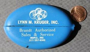 1980s Era Indianapolis Indiana Brandt Technology Systems vinyl rubber coinpurse!