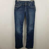 "Silver Suki 17"" Womens Boot Cut Medium Wash Blue Jeans Sz 27 x 32"