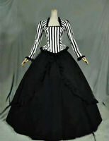 Lolita Long Sleeves Gothic Striped Fancy Dress Cosplay Costume Custom Made