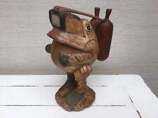 Wooden Carved Frog Scuba Diver Ornament