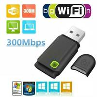 NEW 300Mbps USB Mini Wireless WiFi Network Receiver Card Adapter For Desktop PC