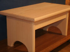 "wood step stool , rustic wooden step stool wooden stool, 7 1/2"" unfinished"