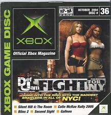 USED OFFICIAL X-BOX MAGAZINE GAME DISC #36 ** SAMPLER ** OCTOBER 2004 DOWNLOADS