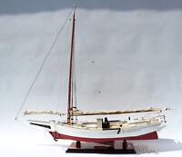 "Chesapeake Skipjack Oyster Sailboat Model - Handcrafted Model Display Ready 34"""