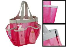 Shower Mesh Bag With 7 Pockets Bathroom Organizer For Dorm Gym Camp Travel New