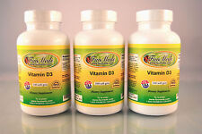 Vitamin D3 1000mg, cholecalciferol, bone - 300 (3x100) soft gels. Made in USA.