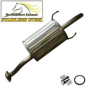 Stainless Steel Direct Fit Rear Muffler Fits 01-03 AcuraEL 01-05 HondaCivic 1.7L
