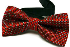 Quality Classic Red Check Shiny Men Bow Tie Wedding Party Formal Men Bowtie