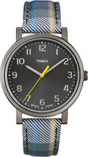 TIMEX Herrenuhr Easy Reader T2N925 Originals-Serie (Lederband in Textiloptik)