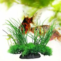 Green Artificial Plastic Grass Water Plant Fish Tank Ornament Aquarium Decor