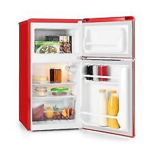 Klarstein Monroe Black Refrigerator & Freezer Combination 61/24 L a + Retro Red