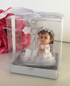 12-Baptism Communion Party Favors Angel Girl Keepsakes Recuerdos De Bautiso Nina