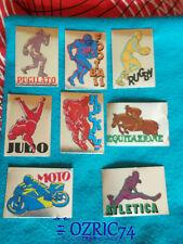 Lotto 8 scudetti Figurine Supersport Panini 1986 con velina Mint Sticker