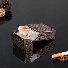 Creative Aluminum Metal Cigar Cigarette Box Holder Pocket Grinder Storage Case