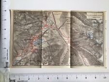 St Moritz, Pontresina, 1928 Original Vintage Map, Roads, Rivers, Switzerland 485