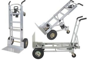3-In-1 Multipurpose Load Carrying Hand Truck Trolley 350Kg Caster Wheels Tyres
