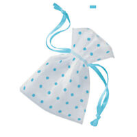 """6 x 4"""" Blue Gift Pouches Baby Shower Favour Bags Gender Reveal Party Supplies"""