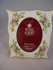 More details for royal albert moss rose photograph frame bone china 1st quality vintage british