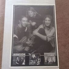 Huge Rare HANSON Promo Rock Pop Music Poster Memorabilia B/W Photo