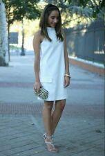 ZARA WHITE POCKETS 70 STYLE SHIFT MINI DRESS SHORT SIZE XS ref   7702/370 new