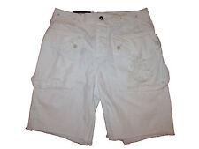 Polo Ralph Lauren White Nautical Anchor Cargo Beach Utility Cutoff Shorts 36