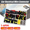 708Pcs 1-6PIN Way Waterproof Car Electrical Wire Connector Plug Set +Blade Fuses