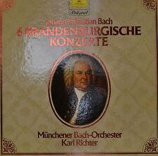 "JOHANN SÉBASTIEN BACH - 6 BRANDENBOURG CONCERTS - KARL RICHTER 12"" 2LP(R424)"