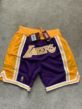 """JUST DON x MITCHELL & NESS """"LOS ANGELES LAKERS"""" 1996-97 ROAD SHORTS SIZE MEDIUM"""