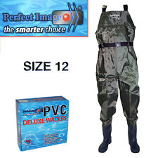 PERFECT IMAGE SIZE 12 PVC DELUXE OVERALL WADER FISHING FLOUNDER PRAWNING BOATING