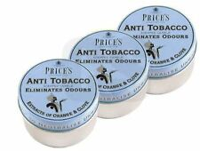 Prices Anti Tobacco Candle in Tin Eliminates Tobacco and Smoking Odours 3 Pack