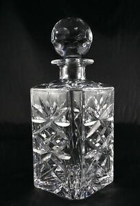 Stunning Lead Crystal Decanter Webb Corbett Doulton Vintage  - Square Whisky