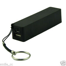 Portable Power Bank 18650 External Backup Battery Charger With Key Chain Black